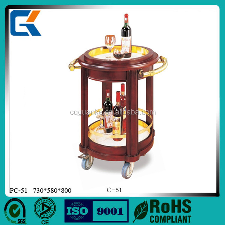 High quality using hotel eco-friendly luxury liquor trolley