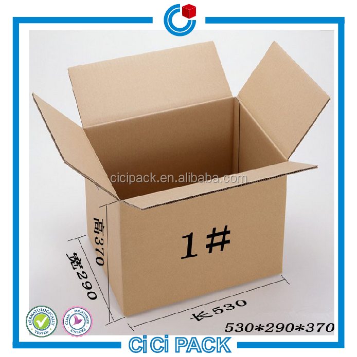 Wholesale corrugated carton box flute recycle material single wall corrugated carton