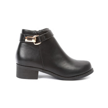 CX018 women's wood sole boot with gold element