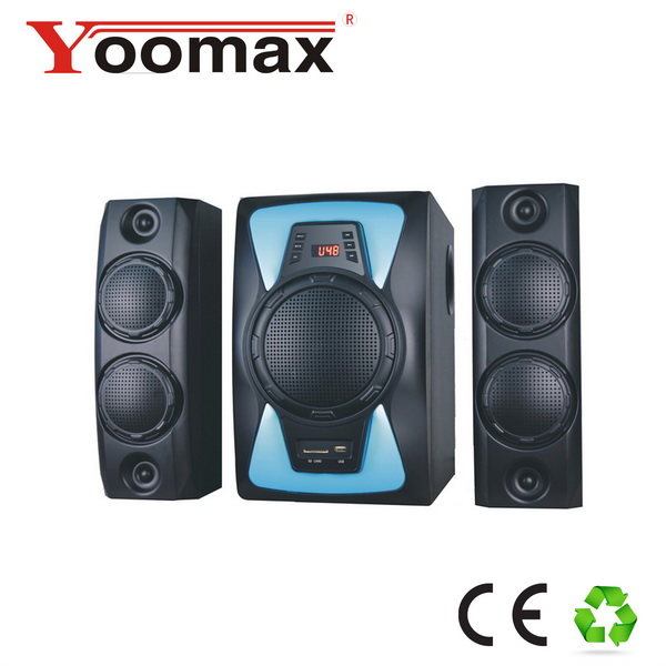 good sound effect woofer home theater system speaker dj bass 2.1 computer bluetooth speakers with bluetooth and breathing light