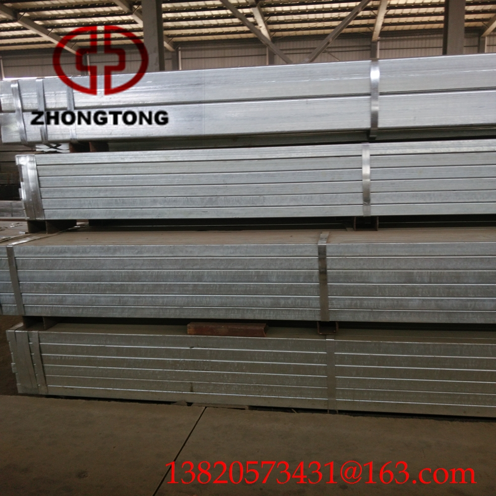 Hot dip galvanized square steel tubes/pipes