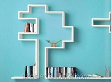 China modern portable acrylic wall mounted book shelf for sale