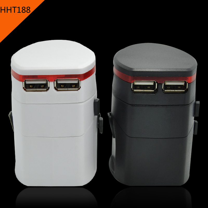 world Travel adapter with 2 USB charger HHT188 UK US EU AUS <strong>plug</strong>