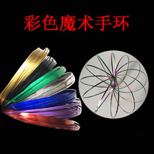 Hot selling in Australia professional magic tricks 3D metal decompression toys kids creative colorful magic ring