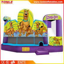 Scooby Doo 5 in 1 inflatable Combo, inflatable bounce house, inflatable slide