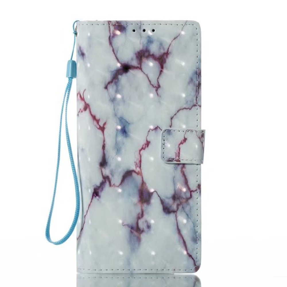 Factory price Mobile phone Protective case with 3D marble TPU leather case for Samsung Galaxy Note8