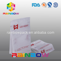 Resealable Food Packaging Printing Flat Bottom