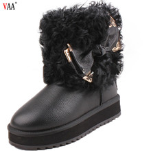 factory price cow suede Winter Real Wool kids shoes manufacturers china Kids Ankle Boots