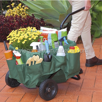 Rolling Garden Tool Cart with Carry Bag