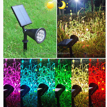 Amazon hot sale colorful garden solar light 7LED adjustable solar spotlight