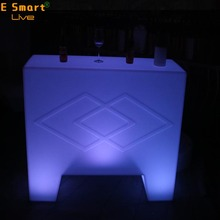 LED Bar Counter Straight Led Bar Counter Bar Height Table