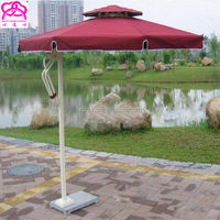 Hot large windproof green round square side standing celi baliness outdoor garden patio beach parasol umbrellas with marble base