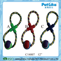 Rope Braided With Tennis Ball Dog Chew Toys Puppy Cotton Chewing Ball Bone Knot Toy