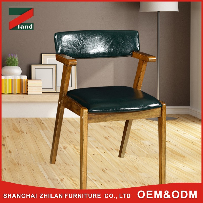 2017 modern european style customized color black leather Z shape Wooden chair milano dining room chairs