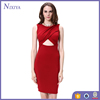 2016 Wholesale Sexy Cut Out Bodycon Knee Length Dress