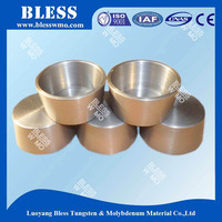 high purity tungsten melting pot crucible