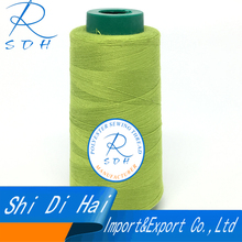High quality 20S/3 polyester dyed sewing thread