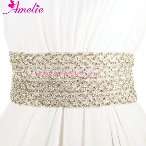Rhinestone Applique Crystal Sashes Wedding for Bride
