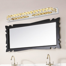 Modern 10W 14w led wall light AC110/220V Waterproof IP65 Driver LED Indoor bathroom Crystal Mirror Front Light Cabinet wall lamp
