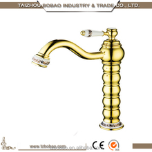 2017 Unique Bright Golden Sink Kitchen Bathroom New Design Health Brass Faucet