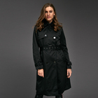 Four seasons women waterproof trench coat high collar girls