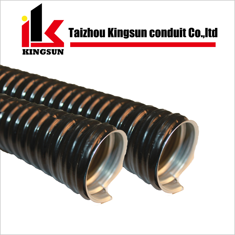 Liquid tight pvc coated metal flexible pipe conduit