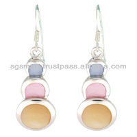 Mother of Pearl Silver Earring 925 Jewelry Wholesale Factory in Thailand..