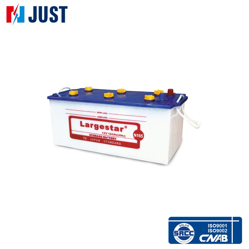 12V N165 used Lead Acid car and truck battery for sale