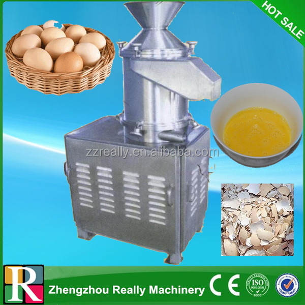 Fresh hen egg/quail egg/duck egg liquid and shell separator egg cracking machine