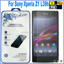 High Quality 0.2mm LCD Clear Tempered Glass Screen Protector For Sony Z1 L36H Protective Film With Retail Package Wholesales