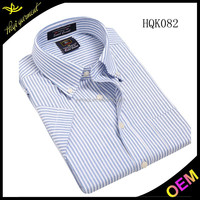 White fashion casual banded collar shirts for men for short sleeve