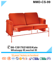 sofa bed with small table, two seater sofa bed.orange sofa