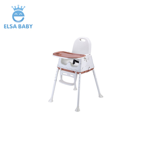 Best selling cheaper plastic high chair/ baby feeding chair with Wheel