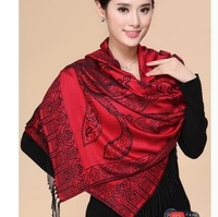 Cotton material ladies shawl wrap with pashmina