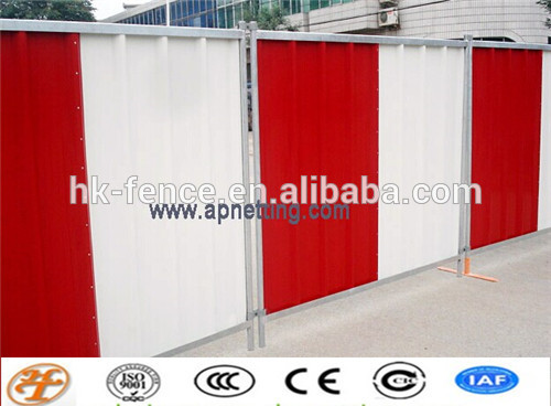 2016 hot sale government purchase construction Colorbond temporary Hoarding Fence