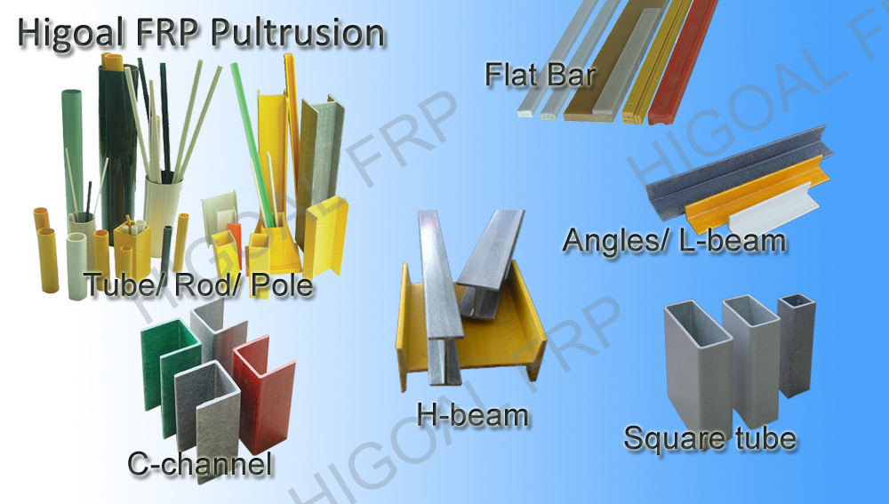 Pultruded frp cudgel bat fiberglass profilesangle