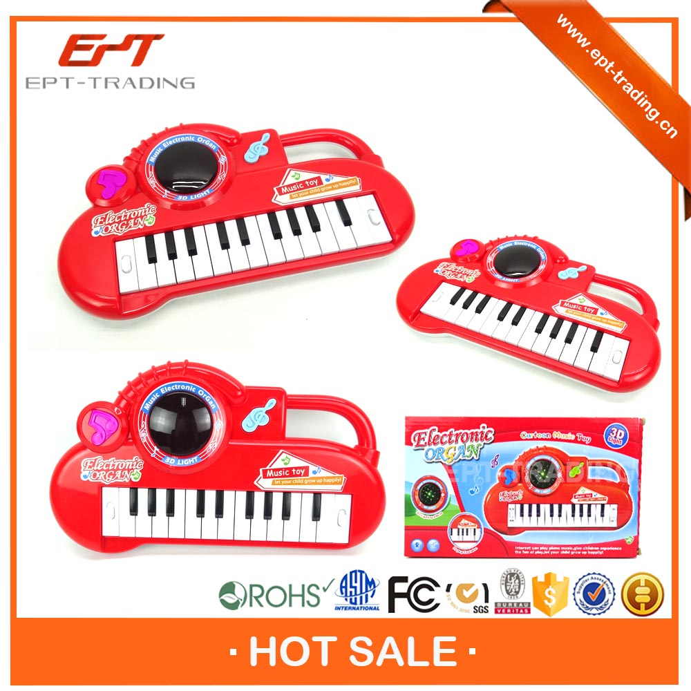 Children funny electronic organ keyboard with 3d light