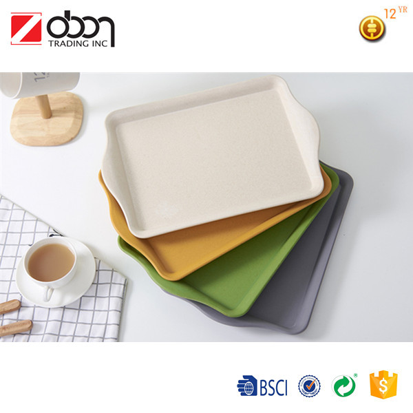 The health bamboo fiber plate/food serving tray