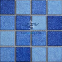 Christmas New mosaics unique design mixed blue swimming pool mosaic tile for sale Y73B03