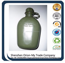 Plastic Military Cateen/Water Bottle+ Aluminum Lunch Box + Canvas cover(camouflage) factory manufacturer