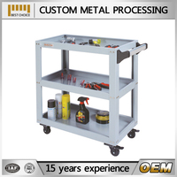 high precision OEM stainless steel instrument trolley