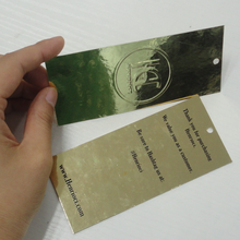 High end brand factory directly thickness custom paper jewelry tags