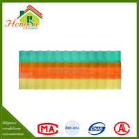 2015 China Made Impact resistance clear plastic roofing panels