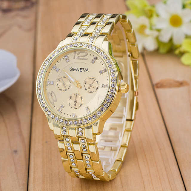Quartz Watch Women Not Waterproof Silver And Gold Rose Gold Giamond Watch Business Men Watch Diamond Roman Numerals 2016 LZ548