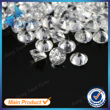1.5mm round white cubic zirconia pasting gemstones
