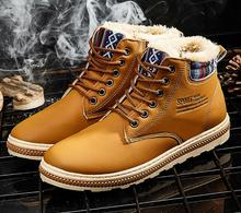 Man Martin Boots for Winter with Warm Wool High-cut Casual Man Shoes for Wholesale