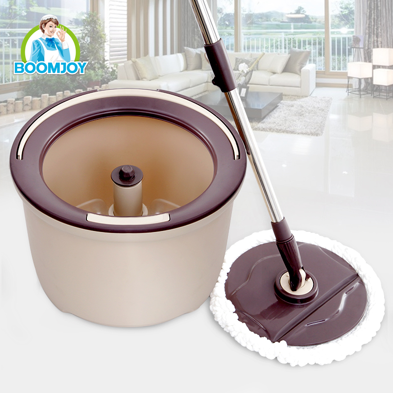 Boomjoy 360 spin mop M7 magic floor cleaning mop wet and dry bucket mop with 2 microfiber refills for home cleaning .