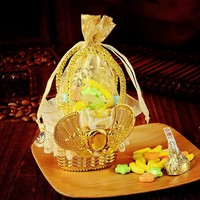 Competitive price organza candy bag with swan head for wedding candy