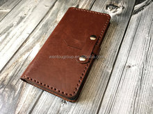 Monogram Personalized Leather Phone Case