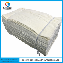 Bales white bed sheeting cotton rags